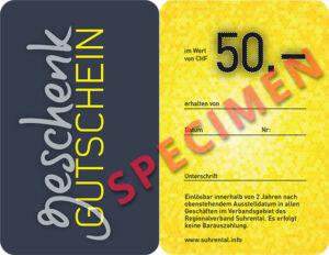 Gutschein 50 S